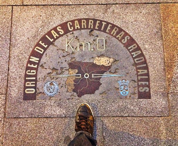 El kilómetro 0, uno de los rincones mágicos de la Puerta del Sol