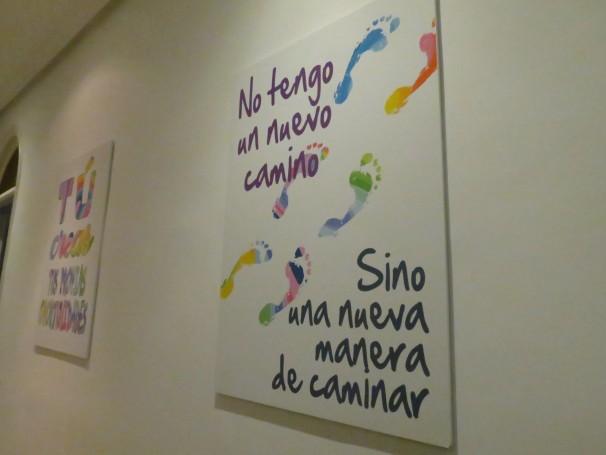 La decoración del piso fue pensada para motivar a los chicos (Foto: Camila Alvarenga)