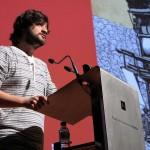 Jabois agradece su Premio José Manuel Porquet. Foto: C.S.