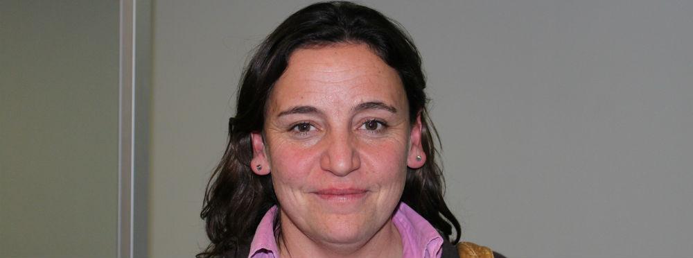 La periodista Carla Fibla tras el encuentro con el Máster ABC