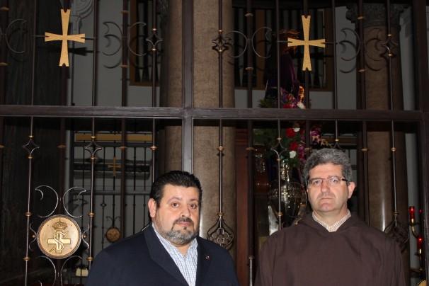 El ViceHermano Mayor (izd) y el Padre Director (decha) durante la entrevista. Foto: I.M.B