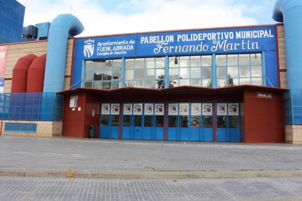 Pabellón Fernando Martín, donde entrenan el equipo Montakit Fuenlabrada de baloncesto