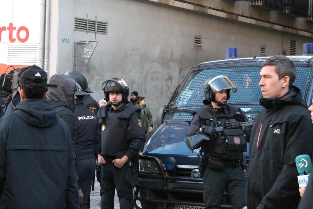 La Policía Nacional cierra las calles