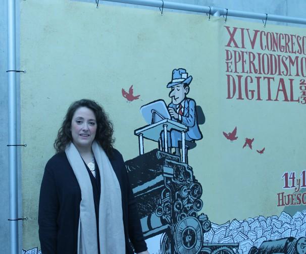 Virginia Pérez Alonso en el Palacio de Congresos de Huesca. Foto por: Iván Gurrea