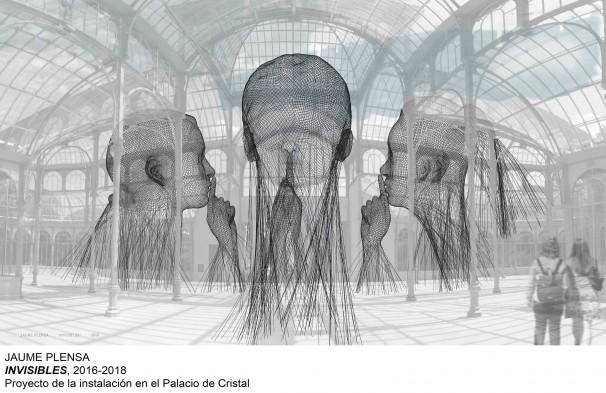 «Invisibles», recreación de la instalación que Plensa hará en el Palacio de Cristal del Retiro