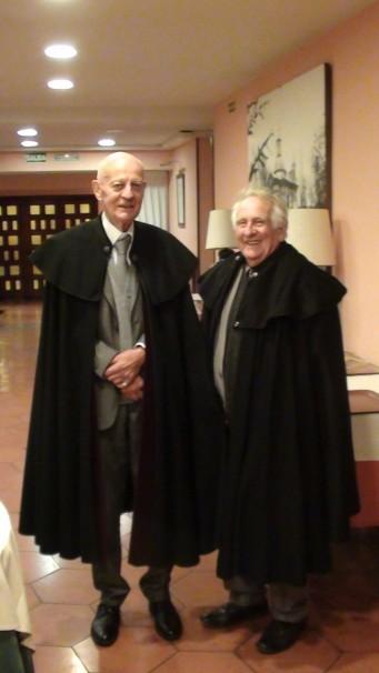 Jacques y Hubert, capistas llegados desde Francia para la apertura de curso