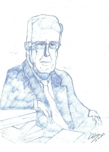 Dibujo de José María Cruz Román por Francisco Delgado-Iribarren Cruz