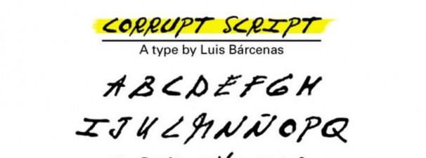 Tipografía Corrupt Script | Marc Garriga