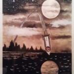 «Lo conseguimos, profesor. ¡Estamos llegando a la luna!». Mena, 1961