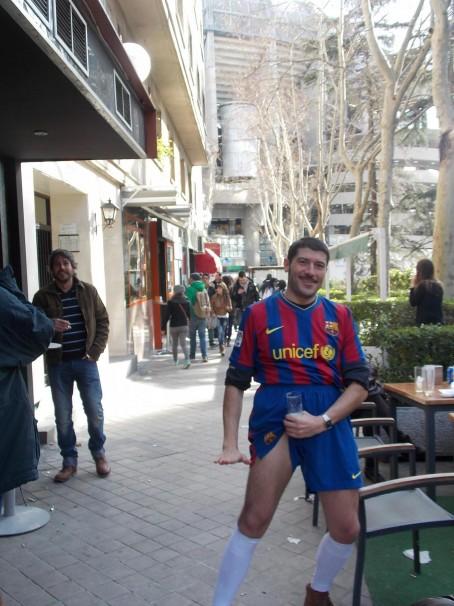 El Messi donostiarra celebra un gol a lo Cristiano Ronaldo