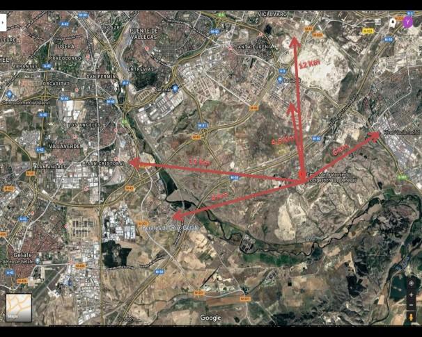 Mapa-distancias-valdemingomez-getafe-vallecas-villaverde-vicalvaro