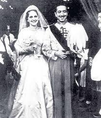 Los Marqueses el día de su boda