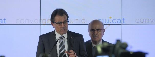 Artur Mas y Josep Antoni Duran i Lleida comparecen ante la prensa