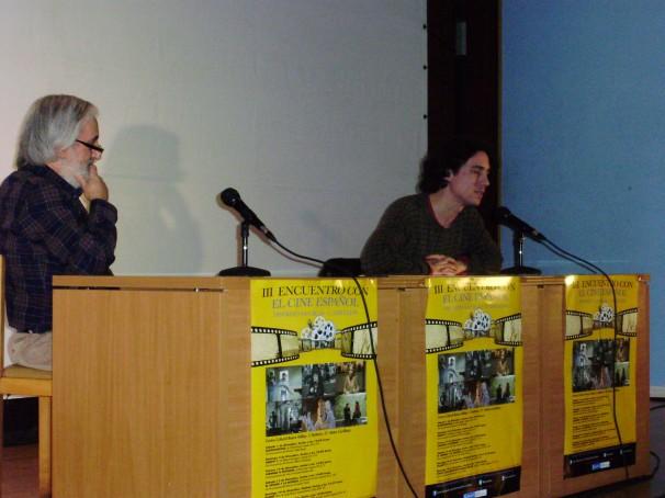 Miguel Ángel Rodríguez (izq.) y Jonás Trueba (dcha.), respondiendo a las preguntas de los asistentes. Foto: Iván Gurrea
