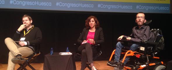 Ignacio Urquizo, Irene Lozano y  Pablo Echenique Foto: J.T.