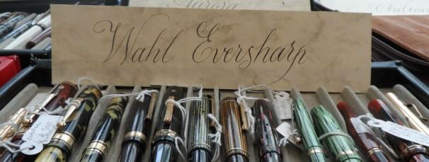 Ejemplo de copperplate de una de los expositores. Foto: J.R.