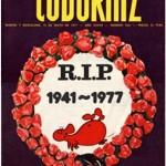 Portada realizada en 1977 por la muerte de Álvaro De Laiglesia