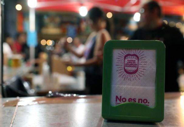 Difusión de la campaña «No es NO» en los bares de Madrid
