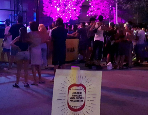 Campaña contra la violencia sexual en una fiesta al aire libre