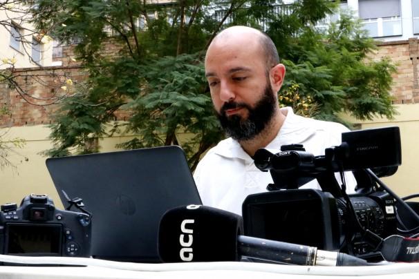 El peridista Rafa Treballant, moderador de «El periodista orquesta en tiempo de rede y plasma»
