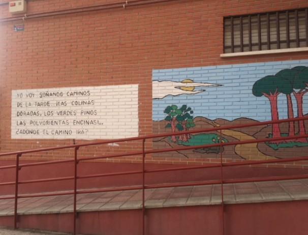 Mural del colegio Antonio Machado