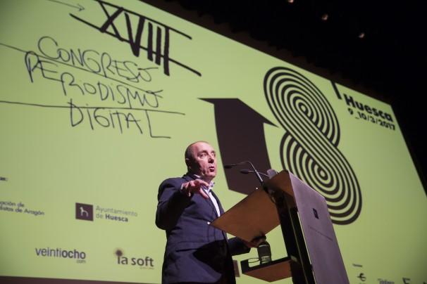 J. L. Trasobares, presidente de la Asociación de Periodistas de Aragón. Foto: Javier Broto