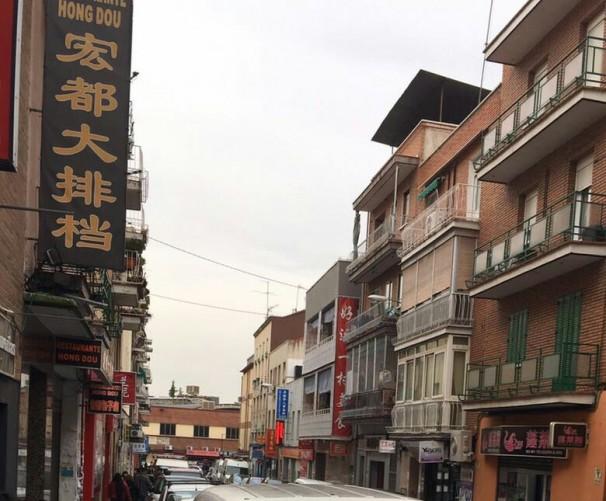 Establecimientos chinos en el barrio de Usera