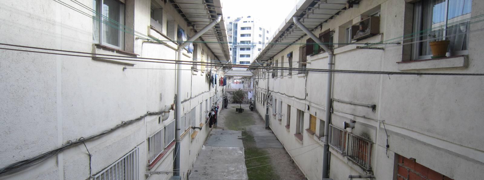 El patio interior de la casa de Gregorio y Enriqueta en la U.V.A.