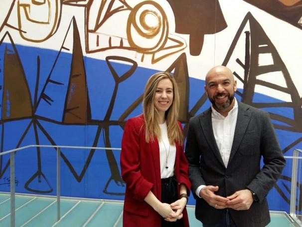 Arantza Martínez y Dani Seseña en el XX Congreso de Periodismo Digital. Foto: L.M