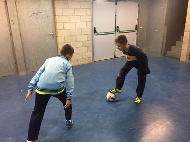 Alex, en un entrenamiento de su equipo