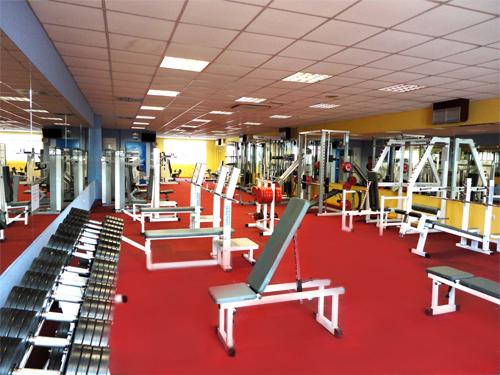 La sala de musculación del gimnasio del Club Atlas, antes de su uso diario. / Foto: clubatlas.es
