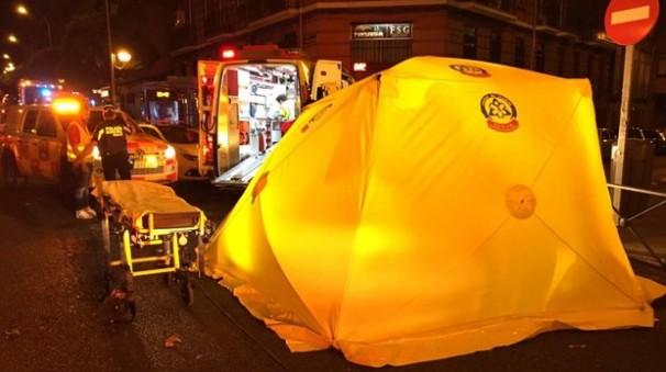 Efectivos del SAMUR atendiendo a un peatón atropellado el pasado mes de octubre en Retiro. Foto: Emergencias Madrid