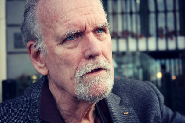 William Lyon durante la entrevista en el Café de Oriente