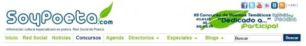 Cabecera del portal «Soypoeta.com»
