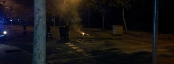 Algunas calles amanecieron cortadas en Leganés
