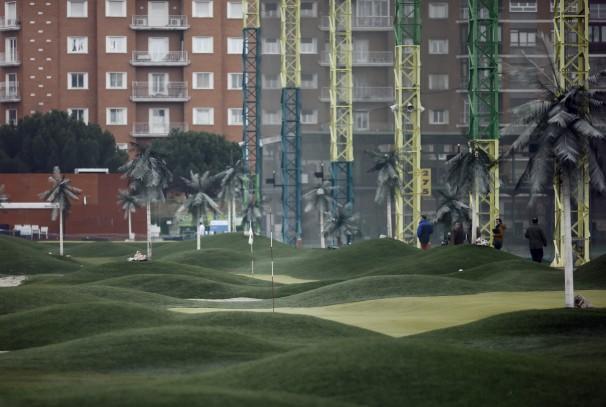 Interior del campo de golf del Canal Isabel II, que será demolido después de Navidades - ABC