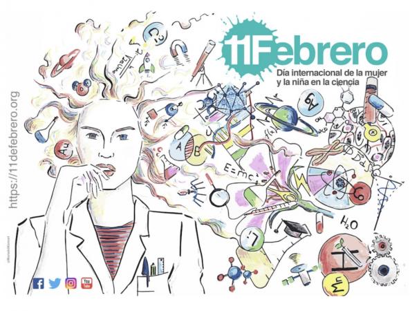 Cartel oficial del Día internacional de la mujeres y la niña en la ciencia. Fuente: 11defebrero