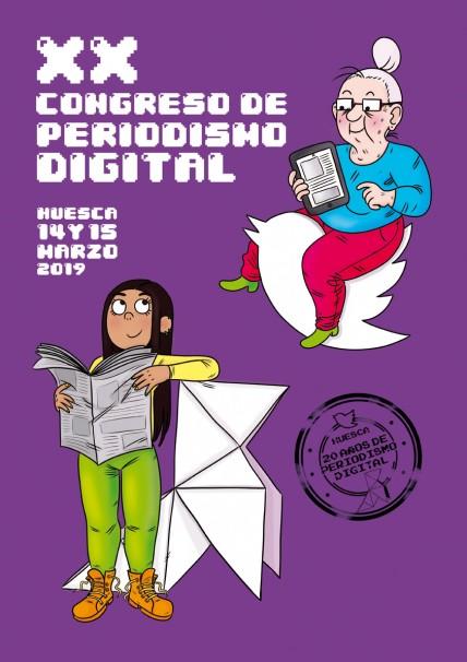 Cartel del XX Congreso de Periodismo de Huesca