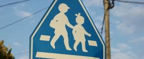 Cartel de peligro niños