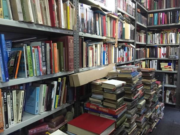 Interior de la caseta nº 29 de la Cuesta de Moyano Foto: E.B