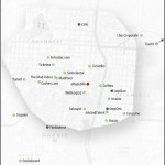 Mapa de las empresas que componen Chamberí Valley Foto:Chamberivalley.com