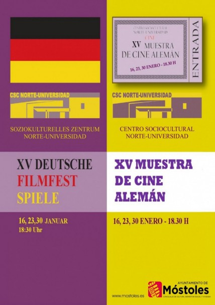 Cartel informativo del ciclo de cine alemán. Foto: Ayuntamiento de Móstoles