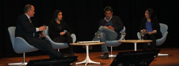 Los tres corresponales analizan cómo trabajan los medios en Francia, Inglaterra y Alemania