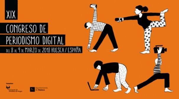 Cartel de la 19º edición del Congreso de Periodismo de Huesca