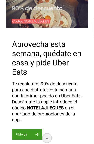 Polémica promoción de Uber eats para nuevos usuarios durante el coronavirus