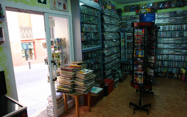 Interior de Videojuegos Lavapiés. Foto. J.T