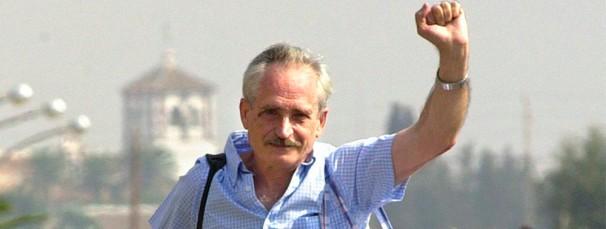 Francisco Brotons, uno de los líderes del Grapo, a su salida de la cárcel en 2002 - EFE
