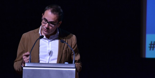 El director de El Mundo, David Jiménez, durante su intervención