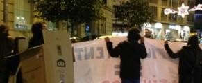El 28 de diciembre siete ciudades gallegas se manifestaron contra los desahucios. Foto: E.J.