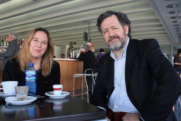 Patricia Fernández de Lis y Pedro de Alzaga durante la entrevista. Fot: C.S